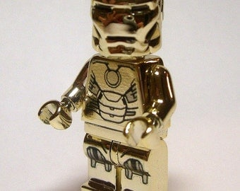 IRON MAN GOLD Armor Custom Minifigure 100% Lego Compatible! Marvel Comics Character