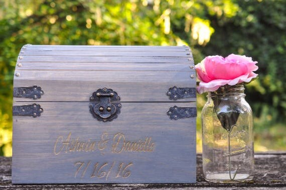 Wedding Card Box Rustic Holder