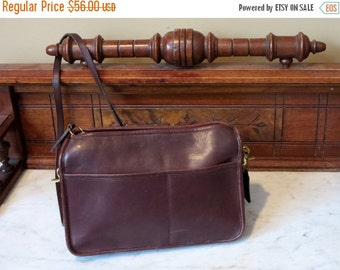 Football Days Sale Coach Companion Bag In Mahogany Leatherware With Leather Strap- Pre-orderly Creed - Made in U.S.A. Very Good Condition