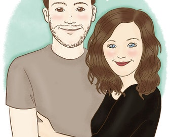Valentine's day couple portrait comission