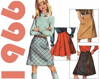 Girls Skirt Pattern Girls Kilt Skirt SIMPLICITY 6707 Girls Size 8 Skirt Vintage Girls Skirt Box Pleat Skirt Girls A-line Skirt Retro Skirts
