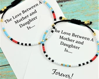 Set of Two Mother Daughter Bracelets   Matching Bracelets   Gift for Daughter   Gift for Mom   Mother Daughter Jewelry   Gift for Her