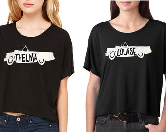 Thelma & Louise Cropped Shirt Set for Friends or Sisters