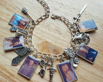 Buffy the Vampire Slayer, Angel, Spike, Giles charm bracelet