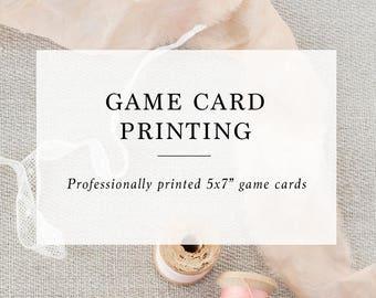 Add-on : Game Card Printing