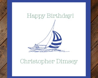 Sailboat Gift Stickers