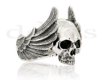 Skull Ring - Winged Skull Ring V2