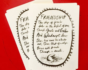 Poetry Greeting Card - Friendship