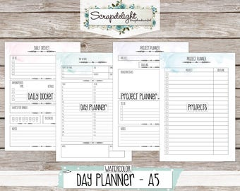 Scrapdelight Planner Kit 2017 - Watercolor - A5 Day Planner
