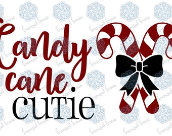 SVG & DXF design - Candy Cane Cutie Christmas t-shirt and decal cut file for die cutting machines (Cricut \ Silhouette)
