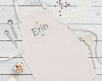 Personalised Childs Apron - Kids Baking Apron - Baking Gift Idea - Birthday Gift Idea - Bakers Apron - Gift For A Chef - Custom Apron