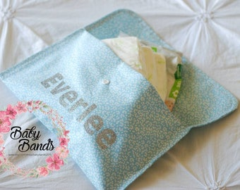 Personalised baby change nappy clutch wallet