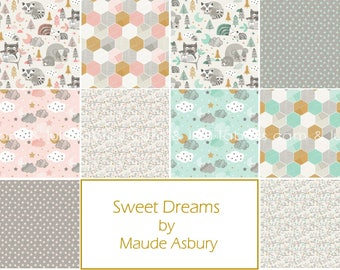 SWEET DREAMS by Maude Asbury for Blend Fabrics - Complete Half Yard Bundle - 10 Prints