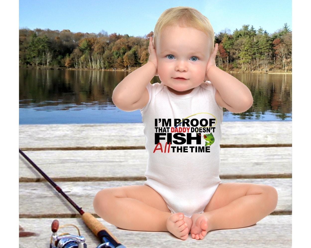 Fishing Onesie Bodysuit Or Infant Tee Pregnancy Reveal