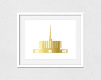 Provo Temple Printable // Instant Download // Printing Services Available // Faux Gold (Matte) // Foil Printing Available // LDS Temple