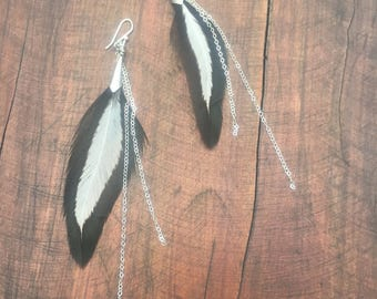 Feather Earrings & Necklace