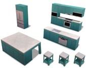 Kitchen #002 - ifunwoo Dollhouse Paper Model