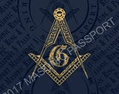 Royal Blue Masonic Passport 2017 w/ Security Features