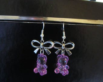 Earrings - sweet purple gummibears