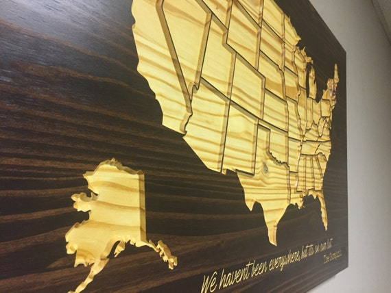 wooden us map wood wall art home decor united states map. Black Bedroom Furniture Sets. Home Design Ideas