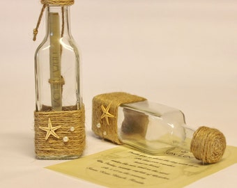 message in a bottle invitation | etsy, Wedding invitations