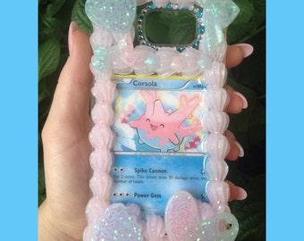 Samsung Galaxy Note 5 Corsola Pokemon Card Whip Frame Decoden Case