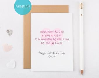 Funny Alternative Valentine's Day Card - Quirky Valentine - Weird Compliment - Boyfriend - Girlfriend - Anniversary