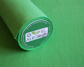 Green organic rib cotton organic cotton ALB substances organic rib grass green organic gots