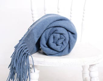 blue wool throw blanket - indigo throw blanket - indigo blanket - indigo throw - indigo blanket throw - blue indigo throw - blue wool throw