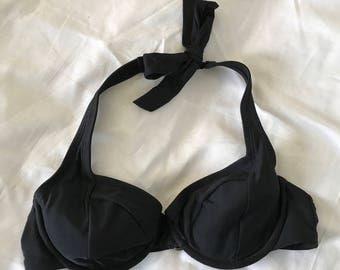 Vintage Black Swimsuit Top