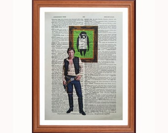 Han Solo vs Banksy - Keep it Real  - dictionary art print home decor present gift christmas