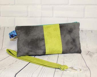 Layer cake clutch, hand bag, purse, wristlet, bag, zipper bag