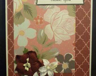 Rich Floral Thankyou Card 1534