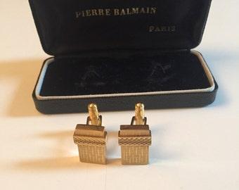 Pierre Balmain buttons cufflinks vintage setting