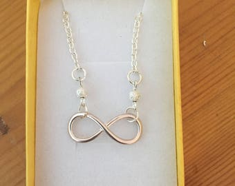 Handmade infinity necklace