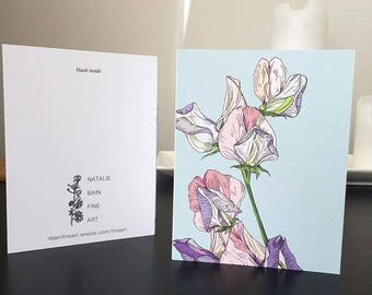Sweet Pea Cards 4 Pack