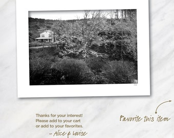 Cashiers, North Carolina. Signed 12x18 Black & White Fine Art Photo Matted to 18x24