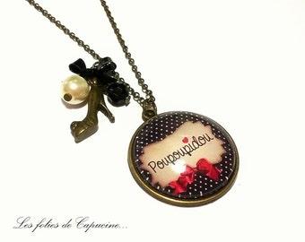 Large CABOCHON •POUPOUPIDOU• necklace