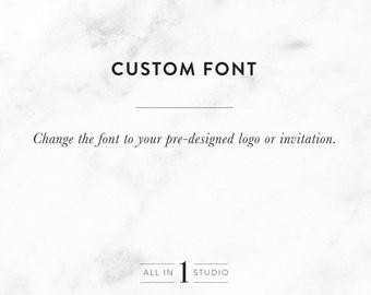 Add on Listing   Custom Font