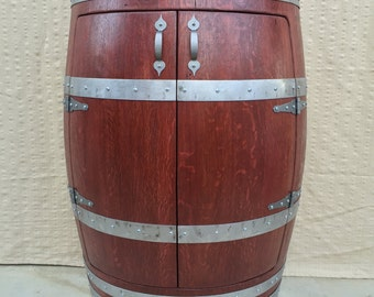 Half Oak Wine Barrel Cabinet,Wine Barrel Furniture,Liquor Cabinet.