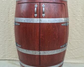 Half Oak Wine Barrel Cabinet,Wine Barrel Furniture,Liquor Cabinet.