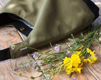 Slouch hobo bag. Kaky hobo bag. Hobo bag purse.  Shoulder bag. Kaky handbag.