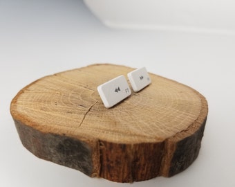 Forward and Rewind Computer Key Earrings