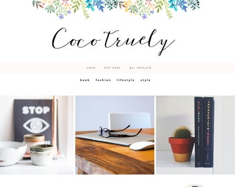 Blogger Template - Premade Blogger Templates - Blogger Template - Responsive blogger Template - blogger Theme - COCO - Instant Download