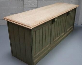 Vintage Painted Pine Shop Counter