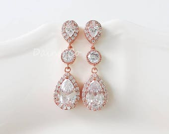 Silver / Gold / Rose Gold - CZ earrings