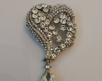 Stunning Large Heart shaped Brooch......UK