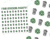 Recycling & Trash Planner Stickers