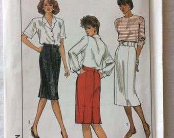 Vintage 1989 UNCUT New Simplicity 9060 Misses Size 14 Skirt in Two Lengths Pattern