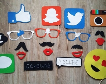 Accessories photobooth x 20 'social networks'